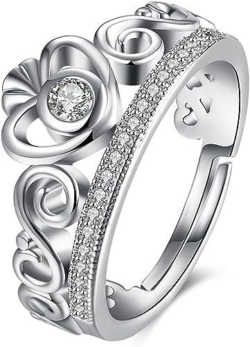 18K ROSE GOLD GF CELTIC FILIGREE EMERALD CRYSTAL WEDDING ETERNITY BAND RING GIFT
