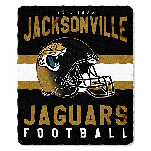 The Northwest Company NFL Jacksonville Jaguars Singular Fleece Throw, 50-inch by 60-inch, Multicolor
