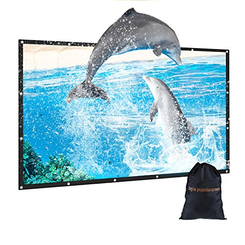 - 100 inch Outdoor Movie Projector Screen with Bag, GBTIGER 100
