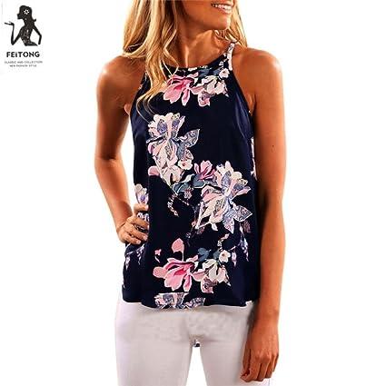 Camisetas Sin Mangas Del Verano Mujer, LILICAT Chaleco Desigual De Vestir Fiesta de Moda Elegante