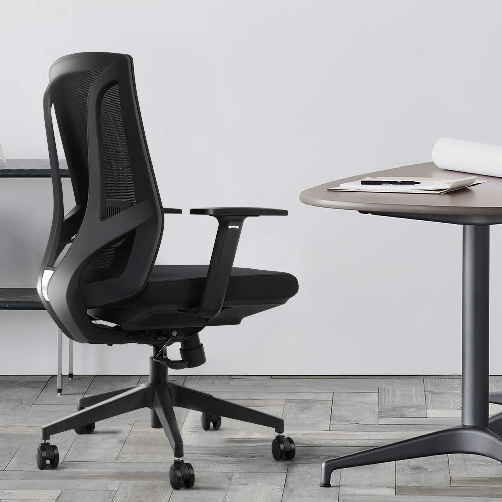Ergonomic Office Chair High Back Mesh Desk Chair with Arm Rests Computer Chair Height Adjustable,Black by Liccx