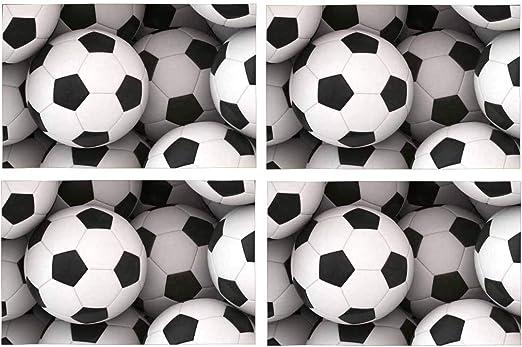 Soefipok Placas de Tela de poliéster Lavable de Pelota de fútbol ...