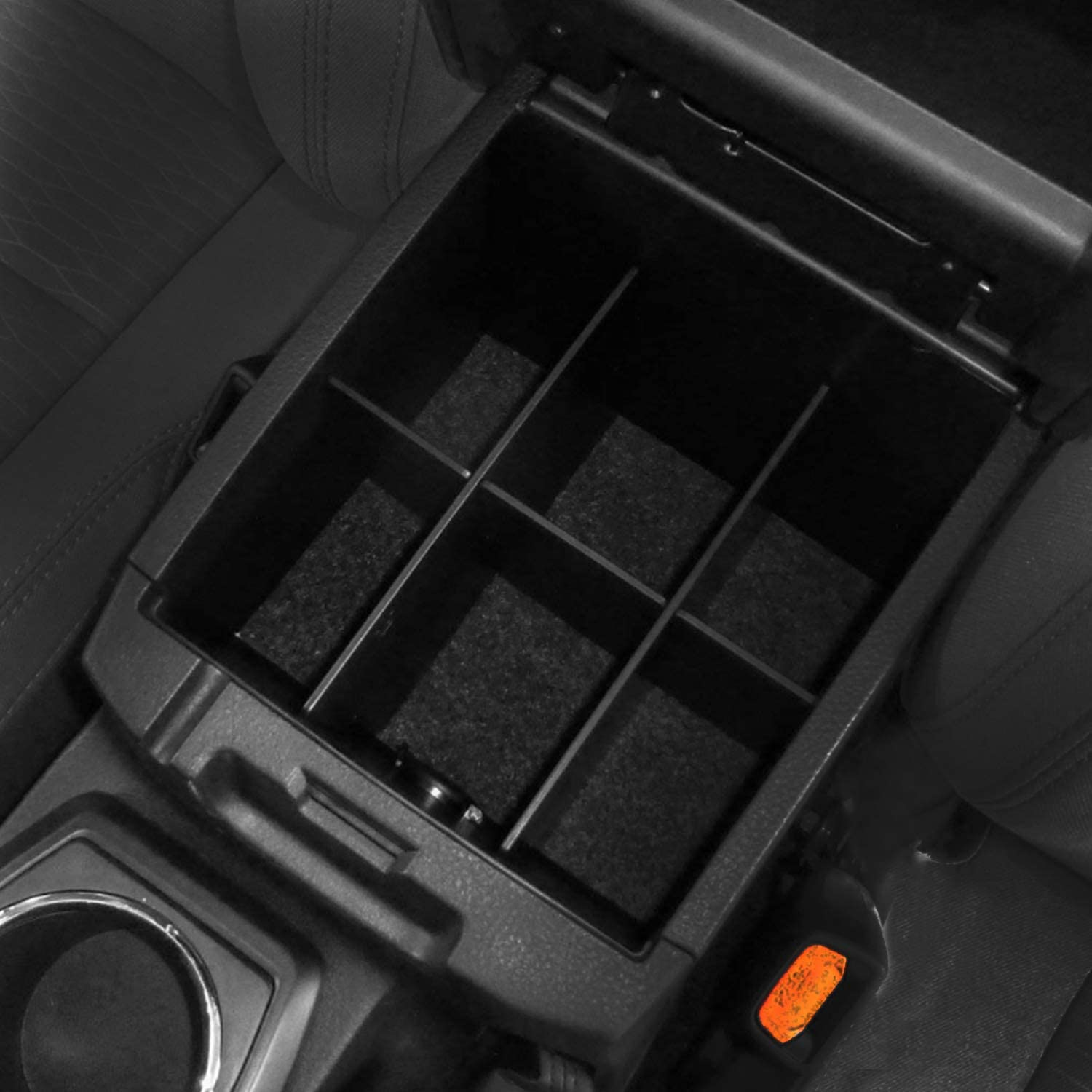 Travay Center Console Organizer Armrest Box Secondary Storage Compatible with 2016-2019 Toyota Tacoma