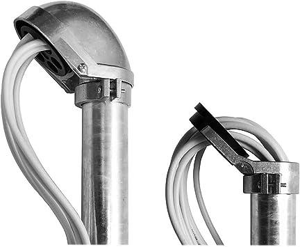 PremiumX Tapa para mástil con entrada de cable soporte de viga de techo SAT de aluminio Soporte de pared Diámetro del mástil 48-52 mm ALU