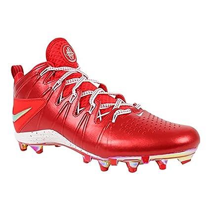 1fce1feda98e Amazon.com  Nike New Huarache 4 LAX LE Lacrosse Football Cleats Red ...