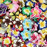 Mix Polymer Fimo Clay 5-leaves Flower Spacer Loose Beads 15mm 100pcs By eArt