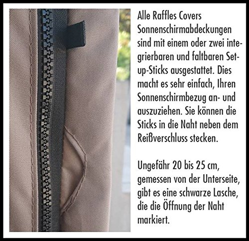 Amazon De Raffles Covers Sonnenschirmhulle Mit Stab H 280 Cm