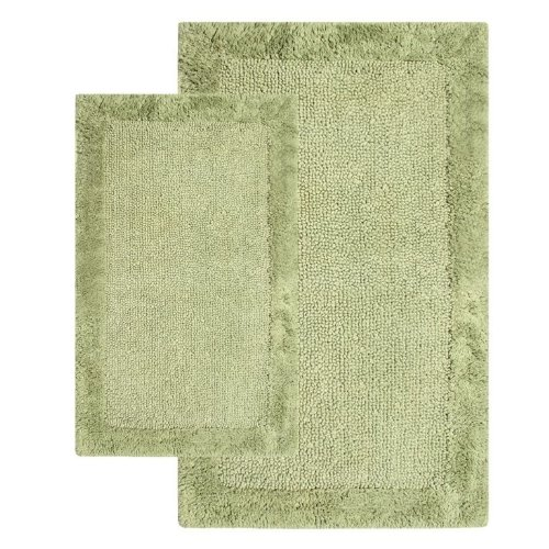 1-Inch by 34-Inch and 24-Inch by 40-Inch Bella Napoli Rug Set, Bottle Green ()