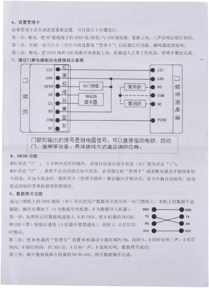 ID Smart Lock,RFID Reader Outdoor Wiegand Waterproof Door Access Management Smart Card RFID Reader for HID /& EM Card