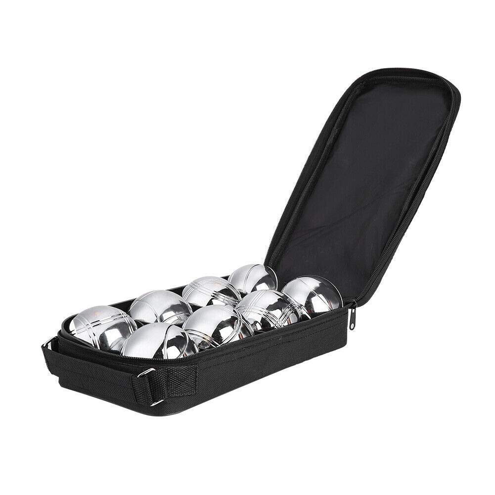 Phasuk 8 French Ball Stainless Steel Boules Set Petanque Outdoor Carry Case Garden Game