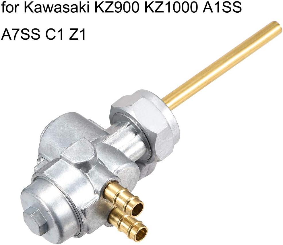 sourcing map Kraftstoffventil Ablasshahn Benzinhahn f/ür Kawasaki KZ900 KZ1000 A1SS A7SS C1 Z1