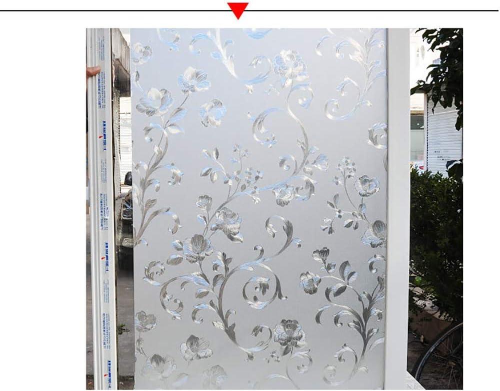 LRQY Esmerilado 3D Vinilo para Ventana,Privacidad estaticos Sin Pegamento Control de Calor Película Pegatinas,Patrón de Flores,3,60x500cm(24x197inch): Amazon.es: Hogar