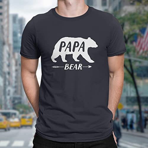 2a248cd6 Image Unavailable. Image not available for. Color: Papa Bear, Funny T-shirts  for Men, Tank, Jersey, Dad,