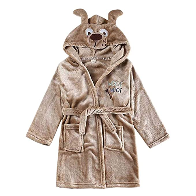 Mallalah Children Unisex Bata de Felpa Suave de Felpa Animal con Capucha Traje de baño Pijama
