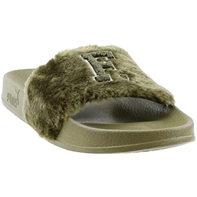 newest daedc 2891b PUMA Women's Fenty x Leadcat Faux Fur Slides