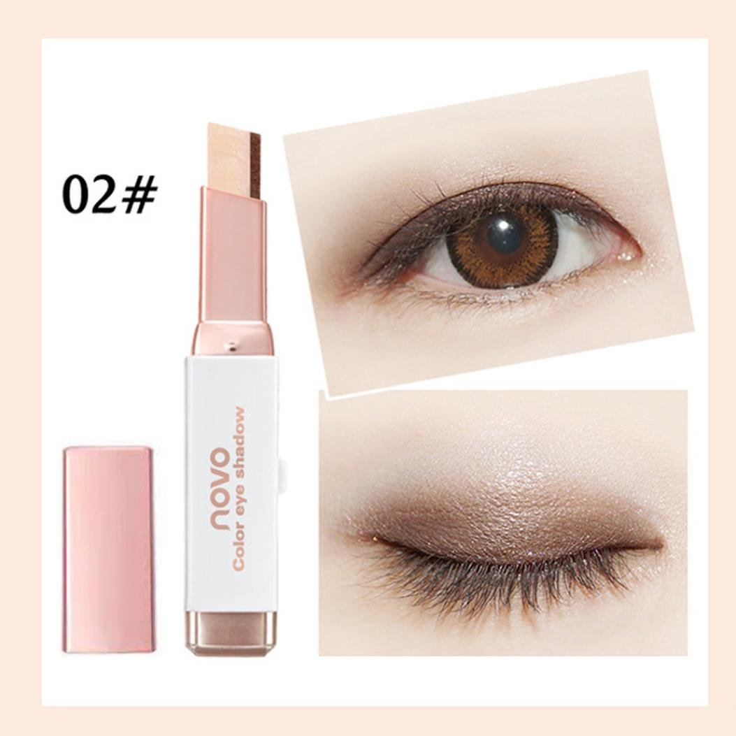 Pulison(TM) New Eye Cream Pen Gradient Two-Color Eye Shadow Stick Shimmer Palette (B)