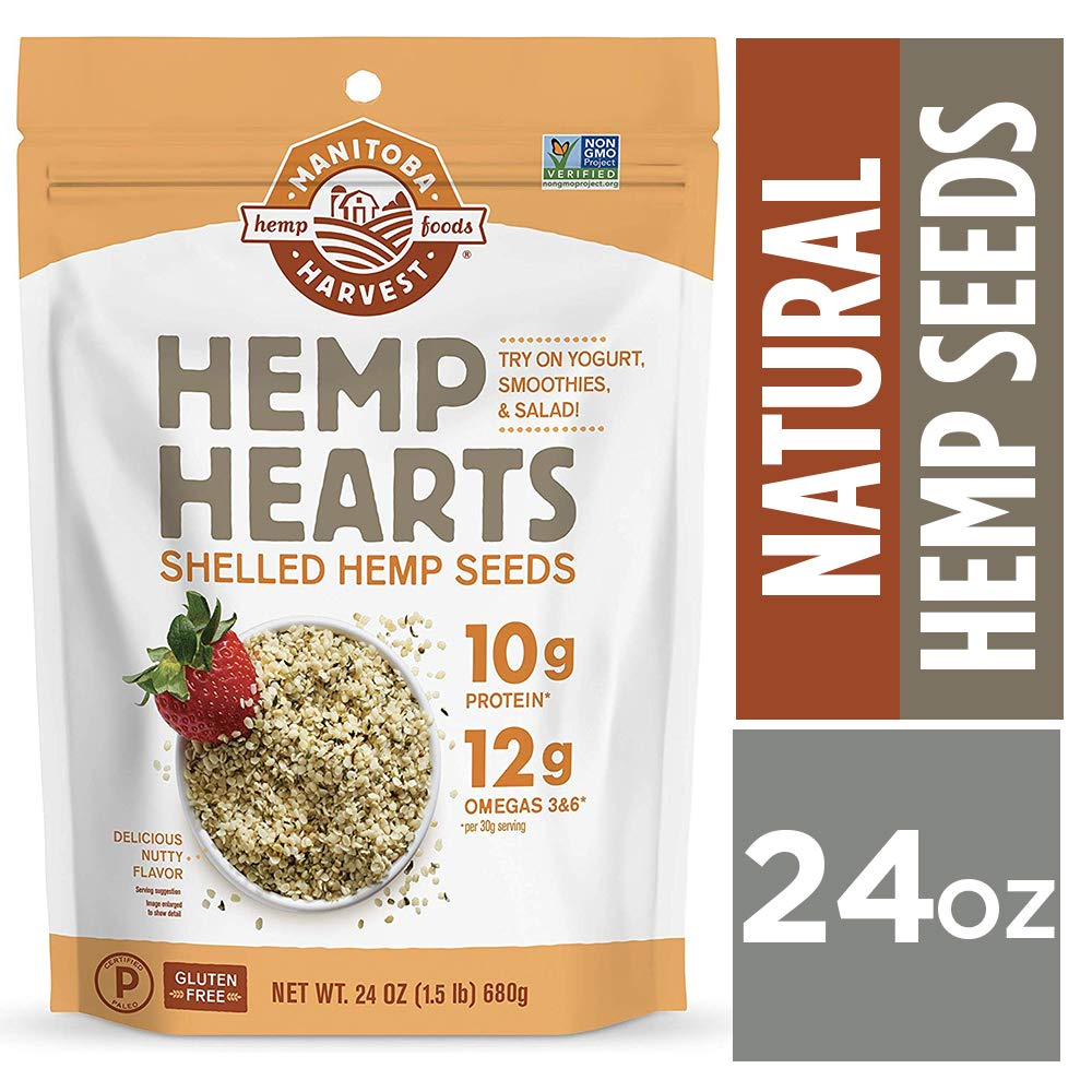 Manitoba Harvest Hemp Hearts Raw Shelled Hemp Seeds, Non-GMO, Gluten Free by Manitoba Harvest (Image #1)