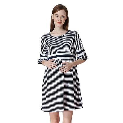 Vestido de algodón para embarazadas se puede usar antes y después del parto en primavera y