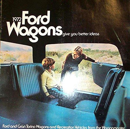 (1972 Ford Ranchero Station Wagon Sales Brochure Literature Piece Book)