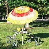 Hawaii Beach Umbrella Foldable Parasol-Rainbow - This Hawaii Beach Sun Umbrella will be an amazing addition to any villa, garden, courtyard, swimming pool, plaza etc.