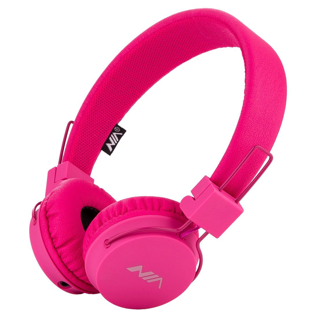 SODEE Folding Stereo Wired Headphones For Kids,Girls Headphones,Boys Headphone,In-line Microphone Remote Control Adjustable Over ear Headphone Kids Headsets with Soft Earpads for Cellphones(Pink)