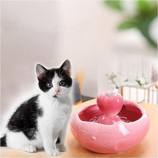 Fuente para gatos Fuentes de agua for mascotas de cerámica Gato Dispensador de agua de circulación automática Fuente for perros Suministros for animales Protección del medio ambiente Silencio bebedero: Amazon.es: Productos para