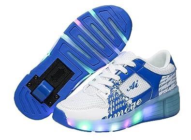 46007a0d7b823 ローラーシューズ キッズ 発光靴 スニーカー LED 光る靴 ローラースケート 男の子 女の子 キッズスニーカー キッズ