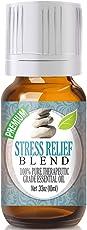 Stress Relief Essential Oil Blend 100% Pure, Best Therapeutic Grade - Bergamot, Patchouli, Blood Orange, Ylang Ylang, Grapefruit