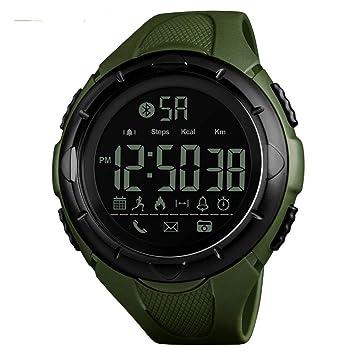 WULIFANG Smart Watch Mens Sports Reloj Digital Reloj Exterior Moda App Calorías Recordar A Reloj De