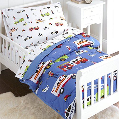 Cheap  Wildkin 4 Piece Toddler Bed-in-A-Bag, 100% Microfiber Bedding Set, Includes Comforter, Flat..