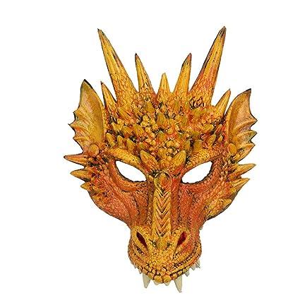 Adulto Halloween Party Rosso o Verde Dragon Maschere Costume Fantasia Accessorio