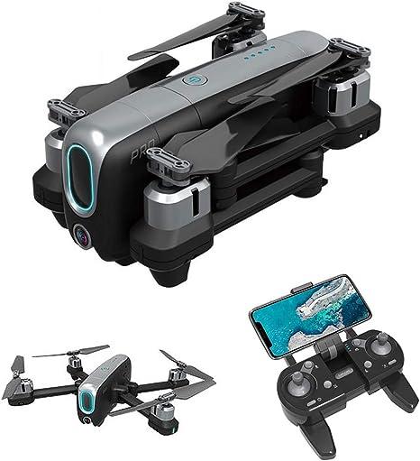 Opinión sobre YAHCQ GPS Drone con Cámara Doble 4K HD WiFi, FPV RC Quadcopter Plegable con Regreso Automático A Casa, Sígueme, Cámara De Ajuste Motorizada, Envolvente De 360