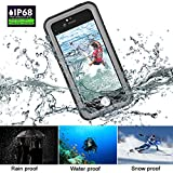 iPhone SE Waterproof Case, Venhoo Transparent IP68 Underwater Full Body Protective Cases Shockproof Drop Water Resistant Covers for iPhone SE/5S/5