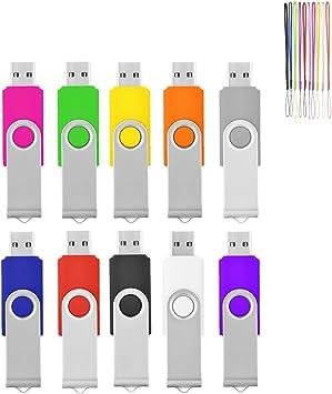 10pack 32GB Metal USB Flash Drives Swivel Memory Stick Thumb Storage Pen Drive