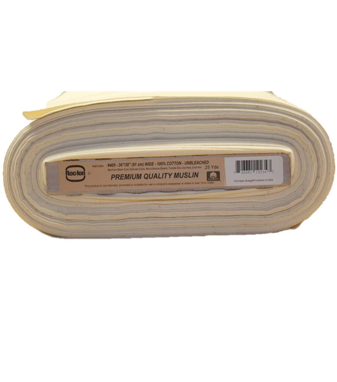 Roc-lon 86456 No.405 Permanent Press Muslin, 50-Yard, Unbleached