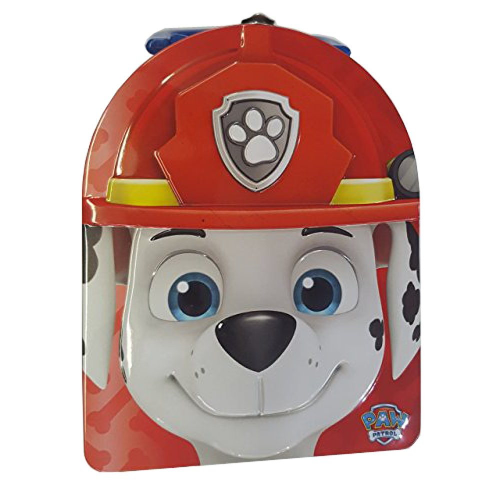 Paw Patrol Carry All Tin Stationery box Marshall