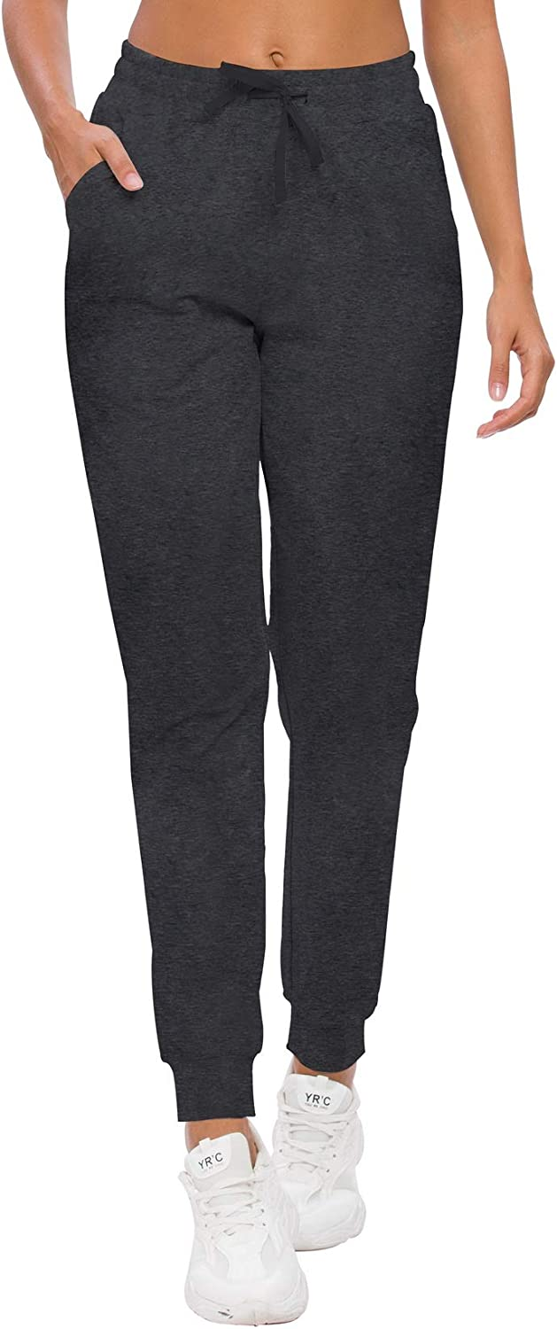 ChinFun Women's Yoga Running Pants Outdoor Lounge Sweat Pants Tapered Side Pockets