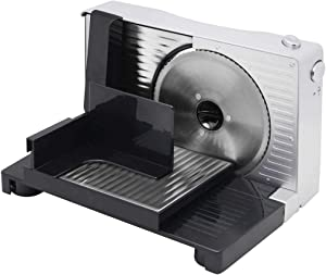 BAOSHISHAN Meat Slicer Electric Bread Cheese Butter Deli Food Slicer 6.7in. Compact Portable Collapsible for Home Use FS-989 (Black)