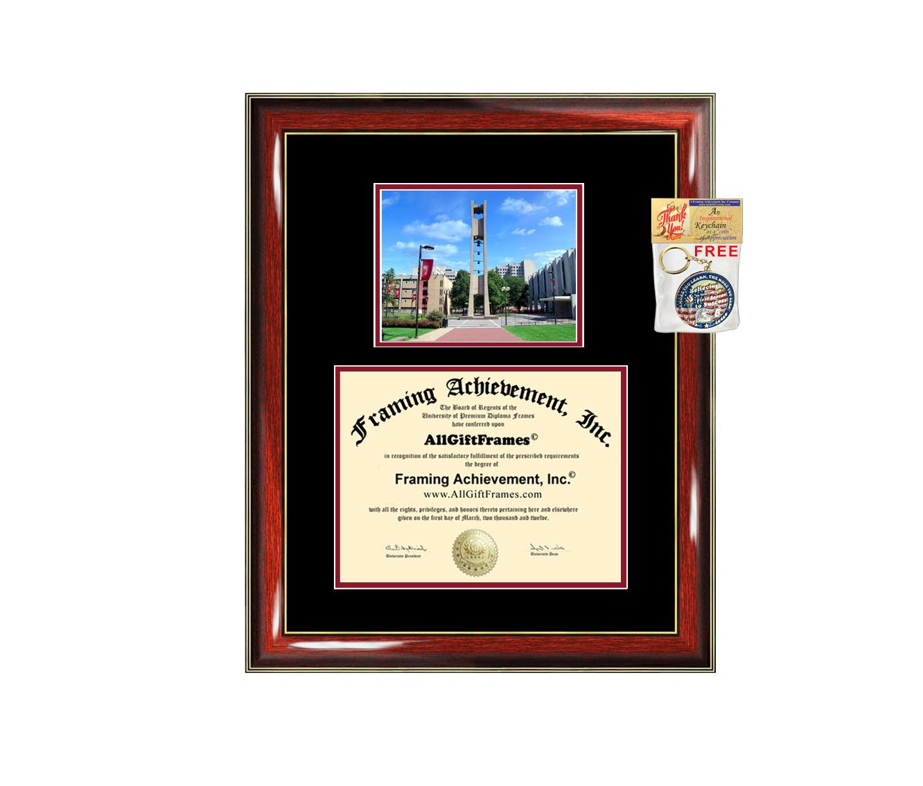 Temple University Diploma Frame Graduation Degree Frames Double Matted College Framing Campus Photo Graduation Gift Temple Degree Certificate Collegiate Document Holder Plaque