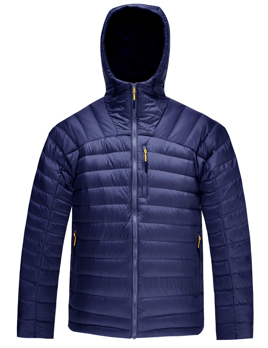 HARD LAND Men's Packable Down Jacket Hooded Lightweight Winter Puffer Coat Outerwear EY18042
