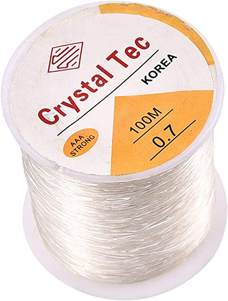 0.6 0.8 1mm Clear Crystal Elastic Stretch Thread Clear Beading WIRE fishing wire