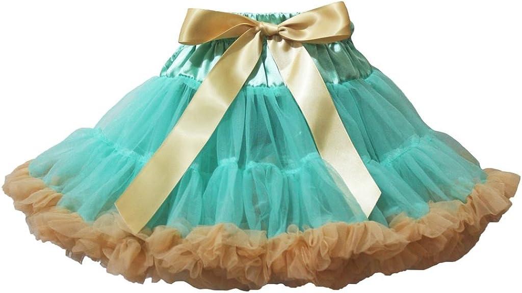 Petitebelle Vestido Azul Azul Dorado Lazo Falda tutú niña Ropa 1 ...