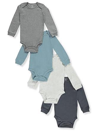 9b6e6b369 Amazon.com: Carter's Baby Boys' 4-Pack Long Sleeve Original ...