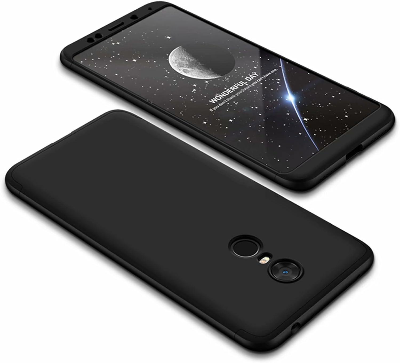 DESCHE compatibles con funda Xiaomi Redmi 5 Plus Negro, PC duro Cubierta protectora Ultrafino Anti-rasguños Parachoque Mate Phone Case - Negro