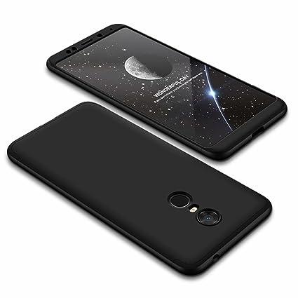 DESCHE compatibles con funda Xiaomi Redmi 5 Plus Negro, PC duro ...