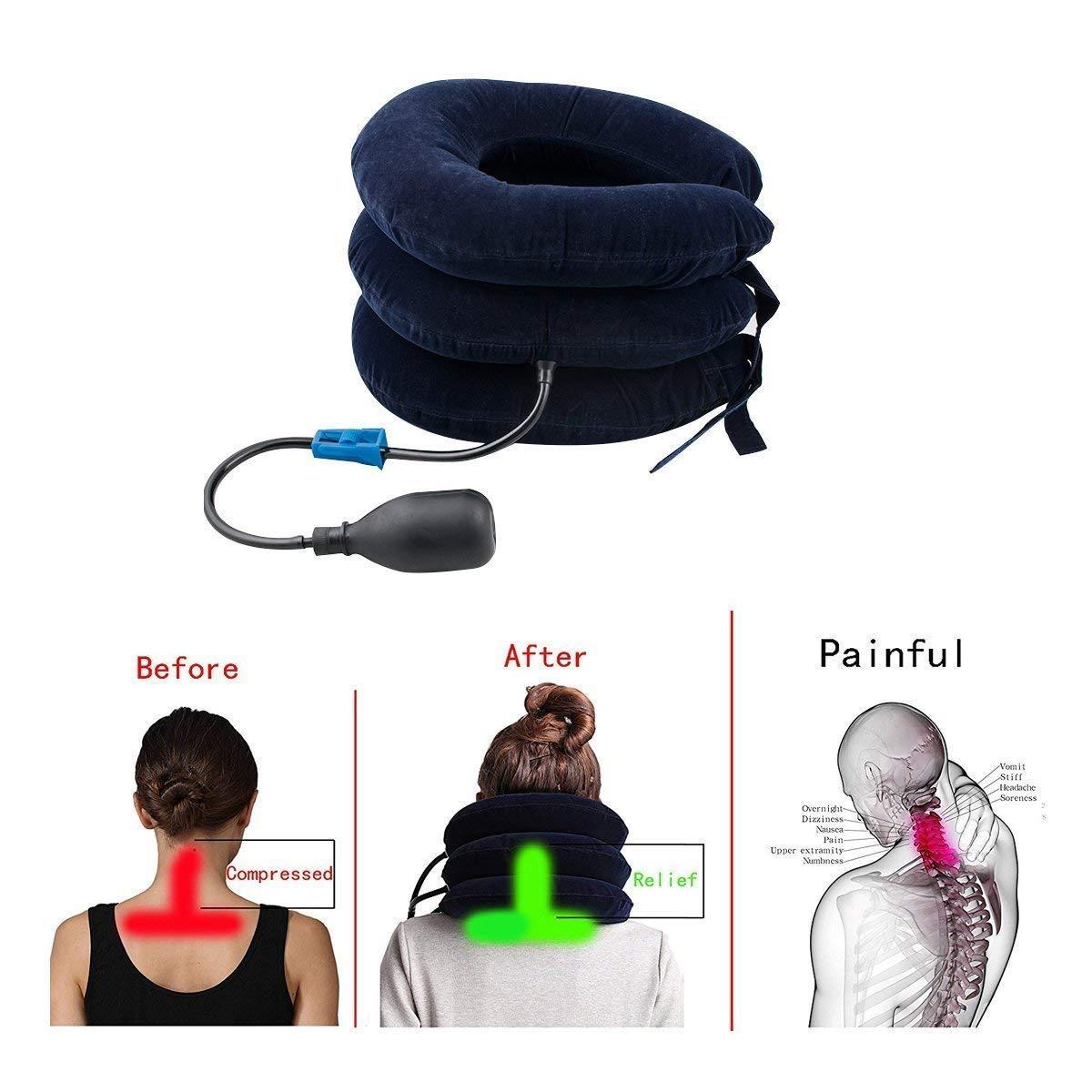 Hinchable cuello dispositivo de tracción cervical para cabeza y ...