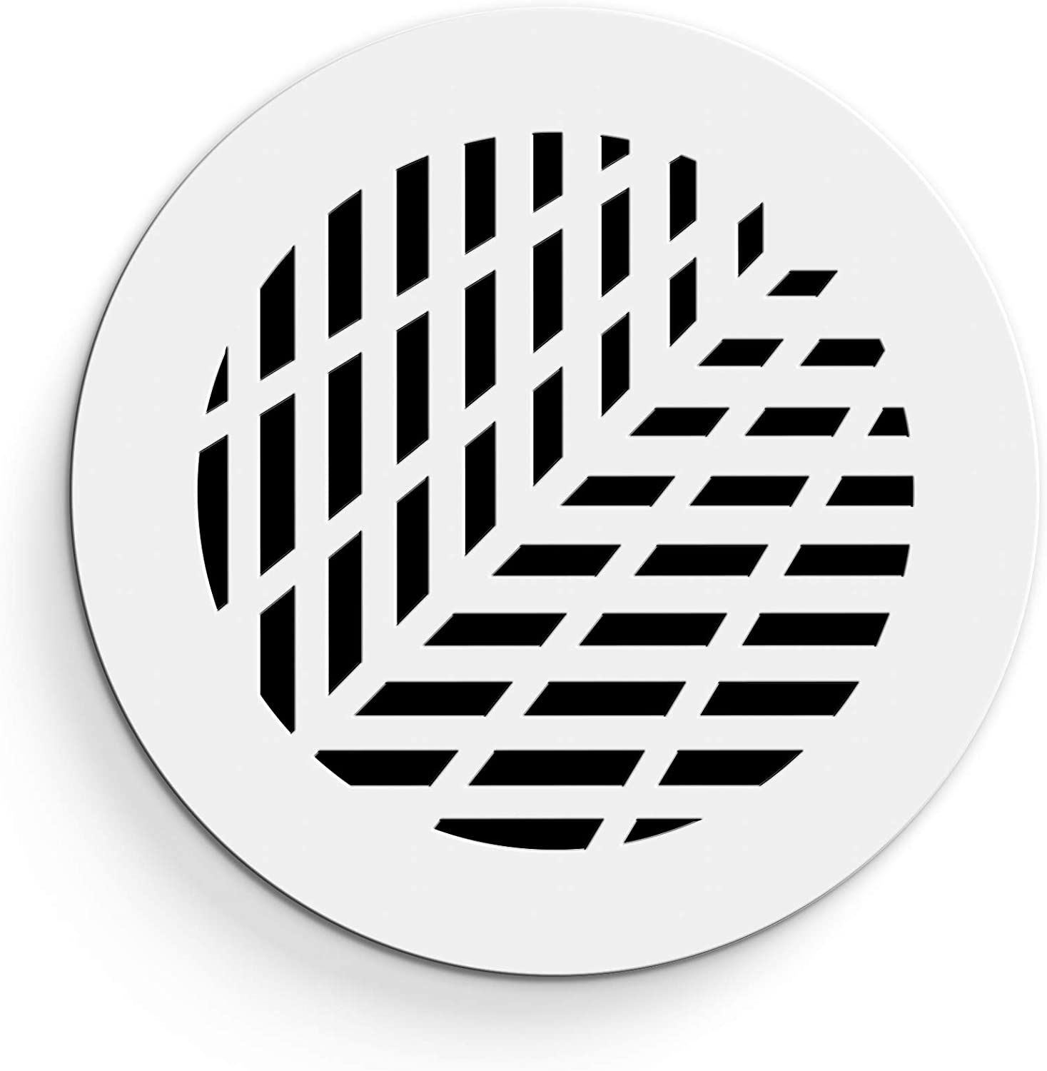 """SABA Air Vent Cover Grille - Acrylic Plexiglass 8"""" Round Duct Opening (10"""" Round Overall) White Finish Decorative Register Covers for Walls and Ceilings NOT for Floor USE, Vivian"""