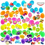 48 Toy Filled Bright Colorful Surprise Eggs, 2.5 Inches, Include 24 kinds of Popular Toys