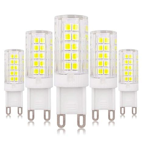Bombilla LED G9, 4 W, 220 – 240 V CA, luz blanca fría