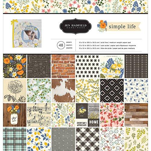American Crafts 733525 Jen Hadfield Simple Life Paper Pad 12 X 12